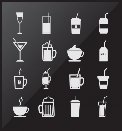 Drink icons over gray background vector illustration Vector
