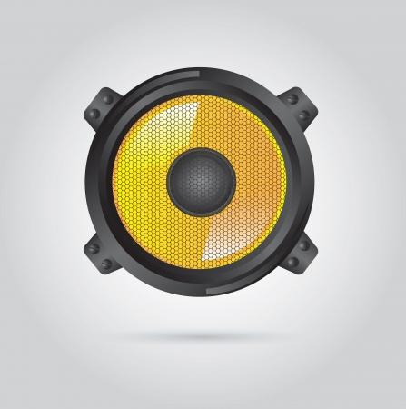 Big speaker over white background vector illustration Stock Vector - 17734304
