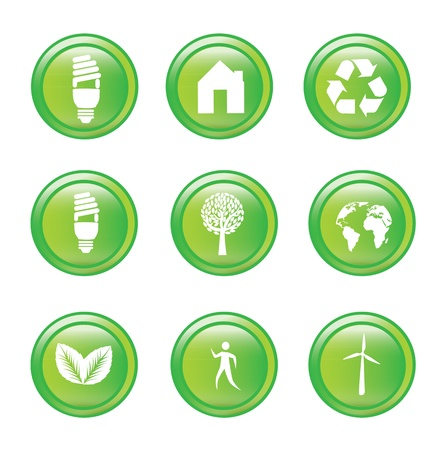 Ecology icons over white background vector illustration Stock Vector - 17734419