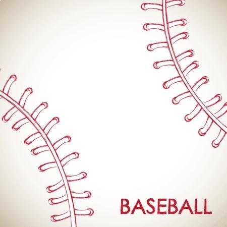 beisbol: Bola de b�isbol ilustraci�n vectorial de fondo