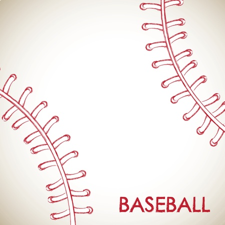 softbol: Bola de b�isbol ilustraci�n vectorial de fondo