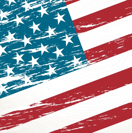 labor strong: Unites States vintage flag background vector illustration Illustration