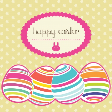 Easter eggs painted in colors. Vector Illustration