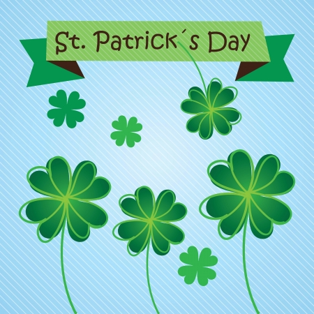 St Patrick�s Day illustration concept on blue background. Vector Stock Vector - 17734297