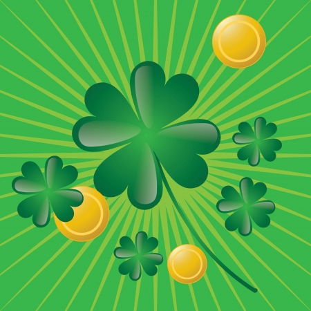 St Patrick�s Day illustration concept on green background. Vector Stock Vector - 17734334