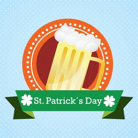 st patricks party: St Patrick�s Day illustration concept on blue background. Vector