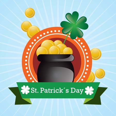 I found the pot of gold coins!.St Patrick�s Day vector Stock Vector - 17734302