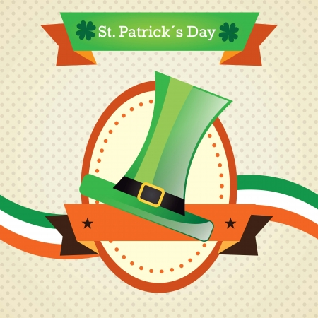 St. Patrick's Day green hat. For celebration. Vector illustration Stock Vector - 17734317