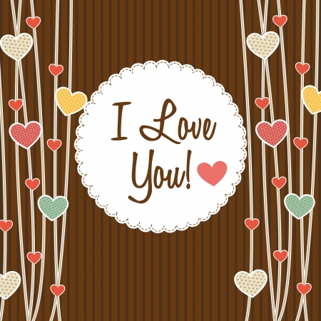 love card with heart over brown background. vector illustration Stock Vector - 17784387