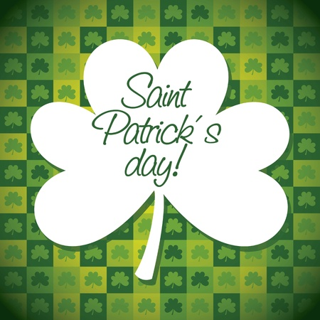 patrick�s day illustration with clover. vector illustration Stock Vector - 17784479