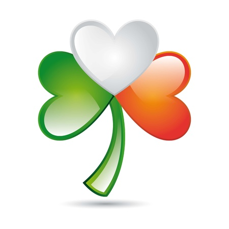 patrick�s day illustration with clover. vector illustration Stock Vector - 17784347