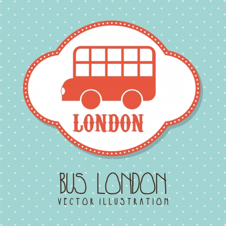 bus london over cute background. vector illustration Stock Vector - 17784408