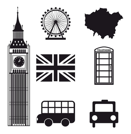 london elements over white background. vector illutration Vector