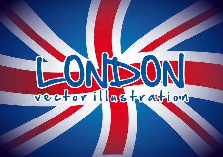 flag london background, blue and red. vector illustration Stock Vector - 17784482