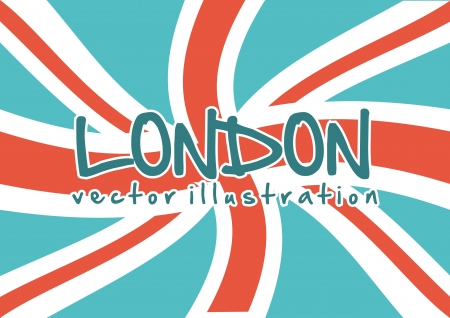 flag london background, vintage style. vector illustration Stock Vector - 17784397