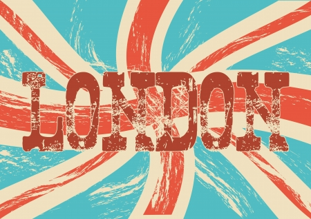 grunge flag london background, vintage. vector illustration Stock Vector - 17784495