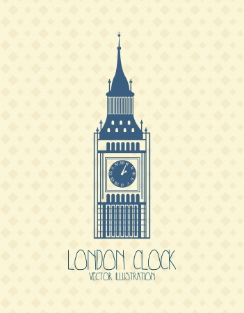 big ben  over beige background. vector illustration Stock Vector - 17784343