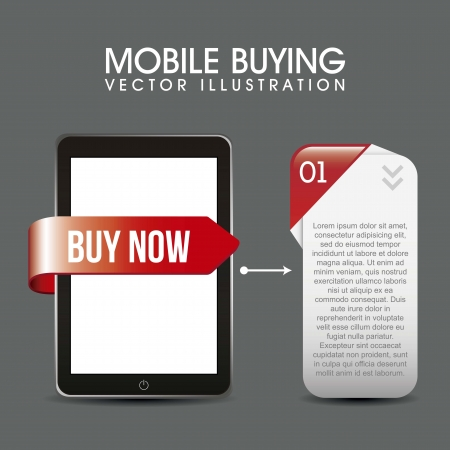 phone with description box, mobile buying. vector illustration Stock Vector - 17784436