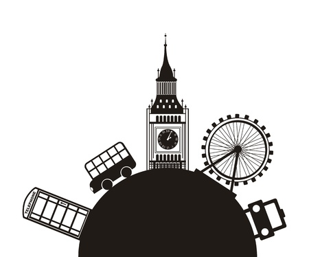 london monuments over white background. vector illutration Vector
