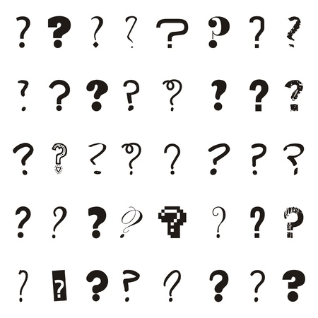 speech marks: questions icons over white background. vector illustration Illustration