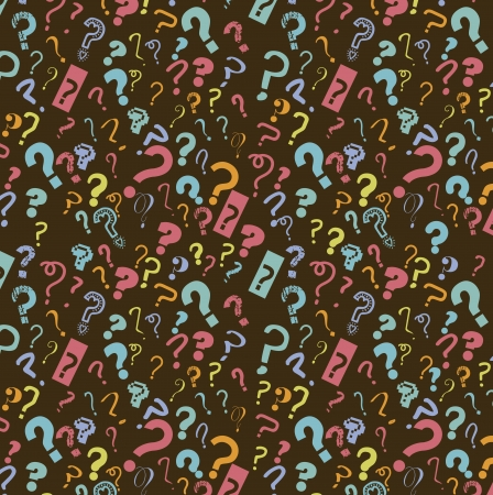 question icon over brown background. vector illustration Vector