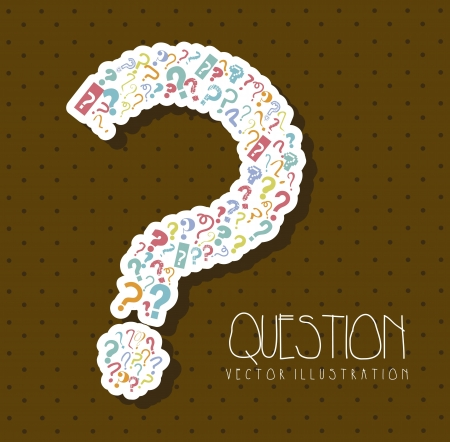 questions icons over brown background. vector illustration Vector