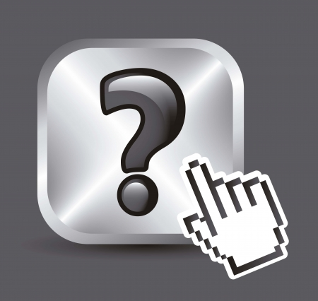 questions icons over white background. vector illustration Stock Vector - 17784458
