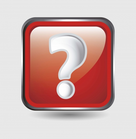 question icon over white background. vector illustration Stock Vector - 17784452