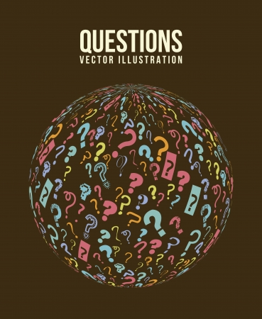 questions icons over brown background. vector illustration Stock Vector - 17784472