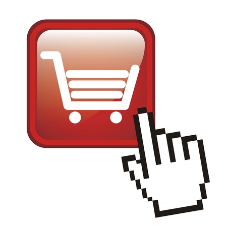 E-commerce illustration with cursor hand and button. vector Stock Vector - 17868555