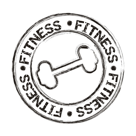 weight training: dumbbells icons seal isolated, grunge. vector illustration Illustration
