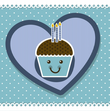 cup cake card with cup cake. vector illustration Vector
