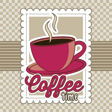 coffee cup illustration over brown background. vector Stock Vector - 17869055