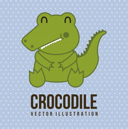 baby crocodile over blue background. vector illustration Vector