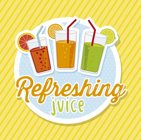 citrus juice over yellow background. vector illustration Vector