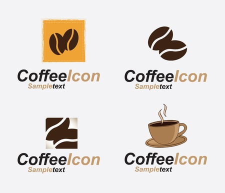 cold coffee: Coffee icon over white background vector illustration
