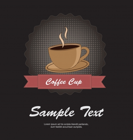Coffe cup over black background vector illustration Stock Vector - 17978801