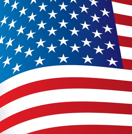 Big Flag of United States background vector illustration Vector