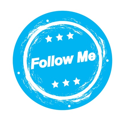 Follow me seal over white background vector illustration Stock Vector - 17978819