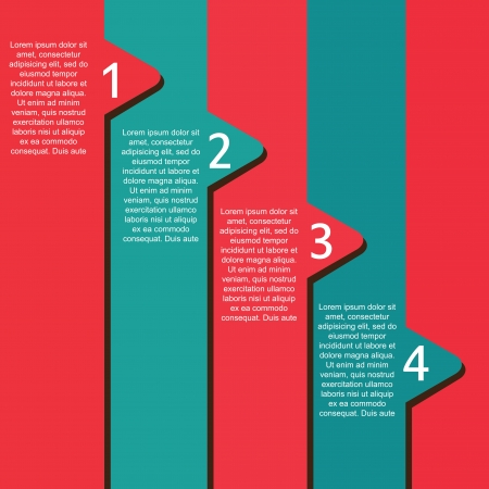 Numbers template over blue and red background Vector