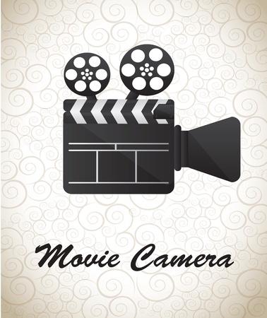 Movie Camera over white background vector illustration Stock Vector - 17978809