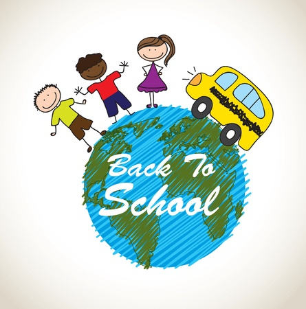 Back to school icons over white background  Vector