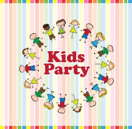 kids party: Kids Party over colors background vector illustration