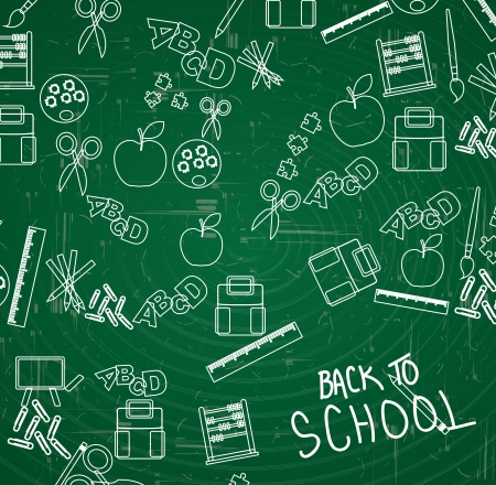 woman back: Elements of back to school vector illustration