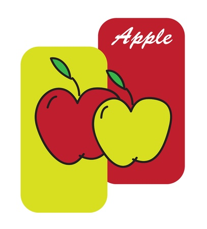 Health food with apple over white background vector illustration Stock Vector - 17978282