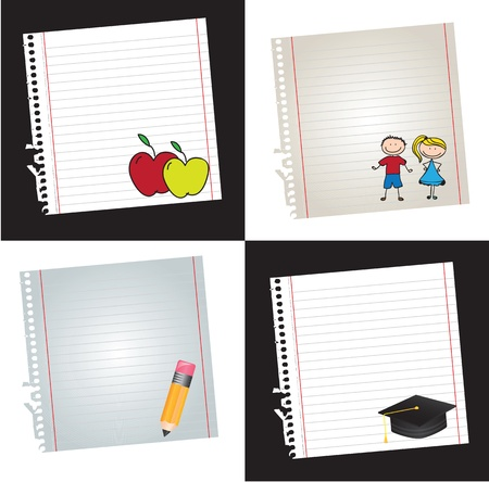 Back to school icons over white background vector illustration Stock Vector - 17978647