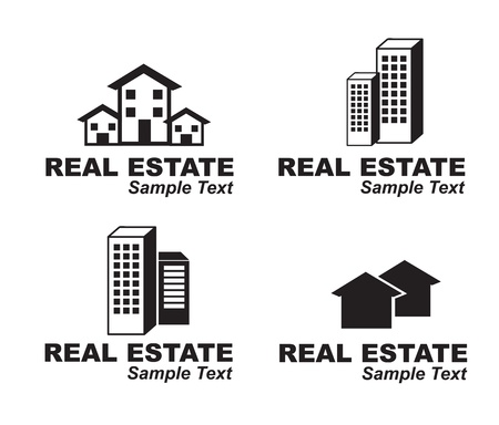 Real Estate icons over white background vector illustration Stock Vector - 17978306