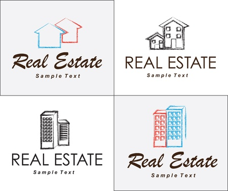 Real Estate icons over white background vector illustration Stock Vector - 17978968