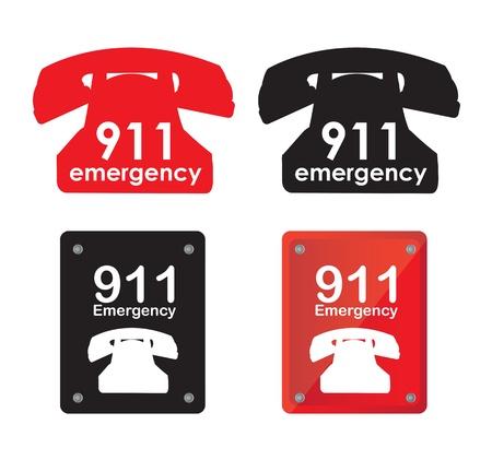 Emergency telephone over white background vector illustration Stock Vector - 17978020