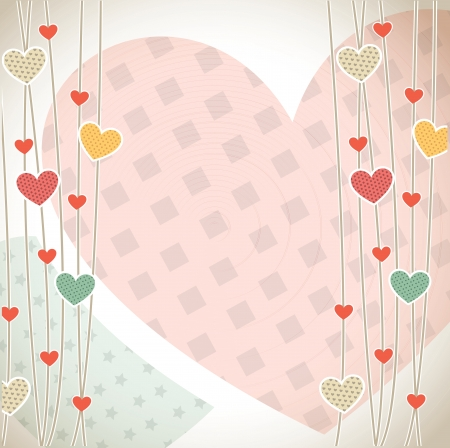 Love card with colors hearts vector illustration Vector